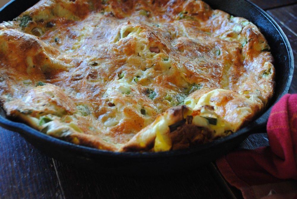 Dutch Baby with Ham, Leeks, & Sharp Cheddar | Recipe ...
