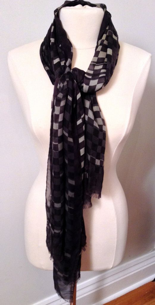 4b14a8564d58d Lv Scarf Black And Grey
