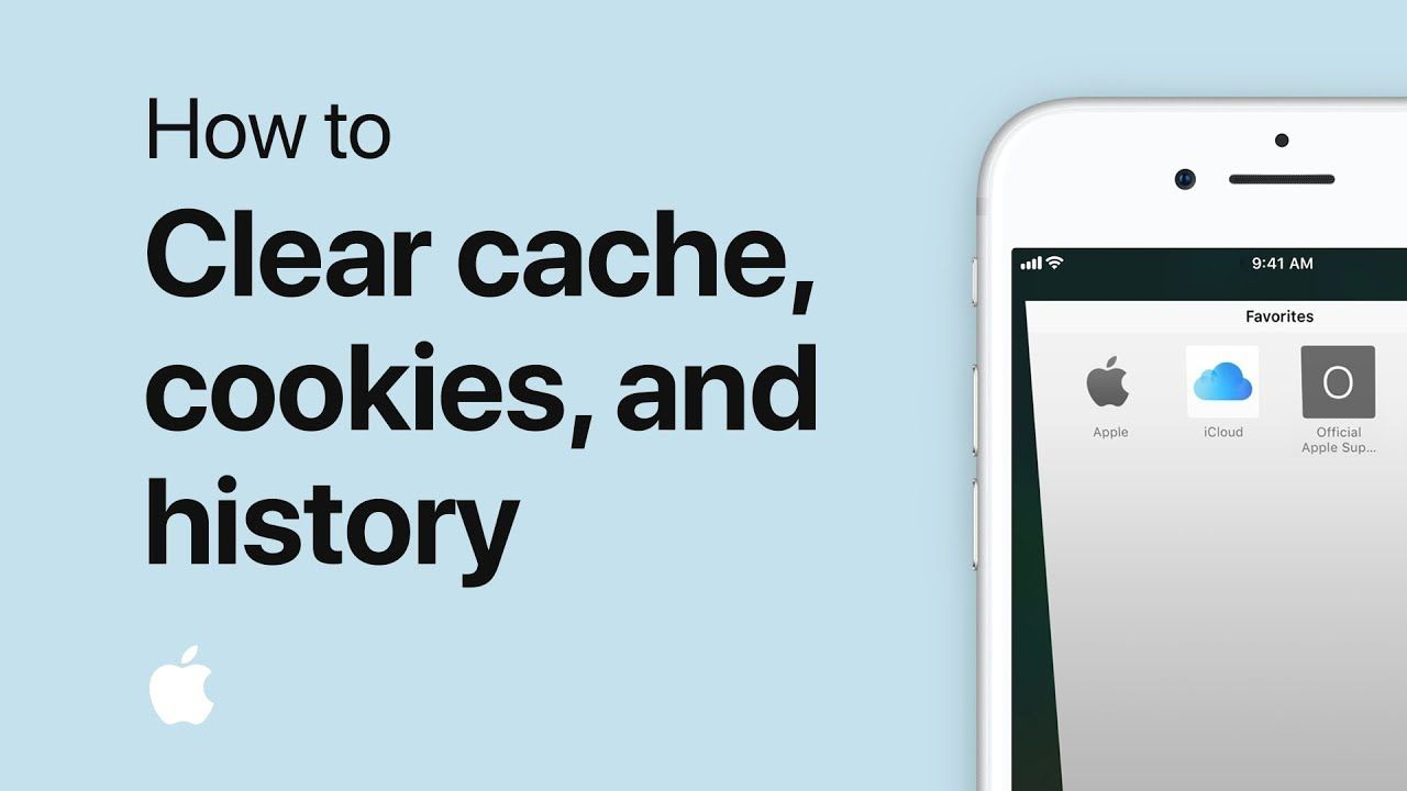How to clear cache cookies and history on your iphone or