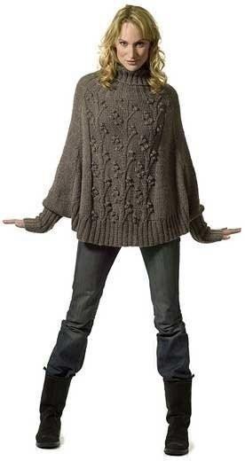 Ponche com mangas | tejidos de punto - tricot - knitting | Pinterest ...