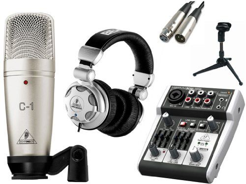 behringer c 1 microphone with usb mixer accessories all in one solution kit for home mobile. Black Bedroom Furniture Sets. Home Design Ideas