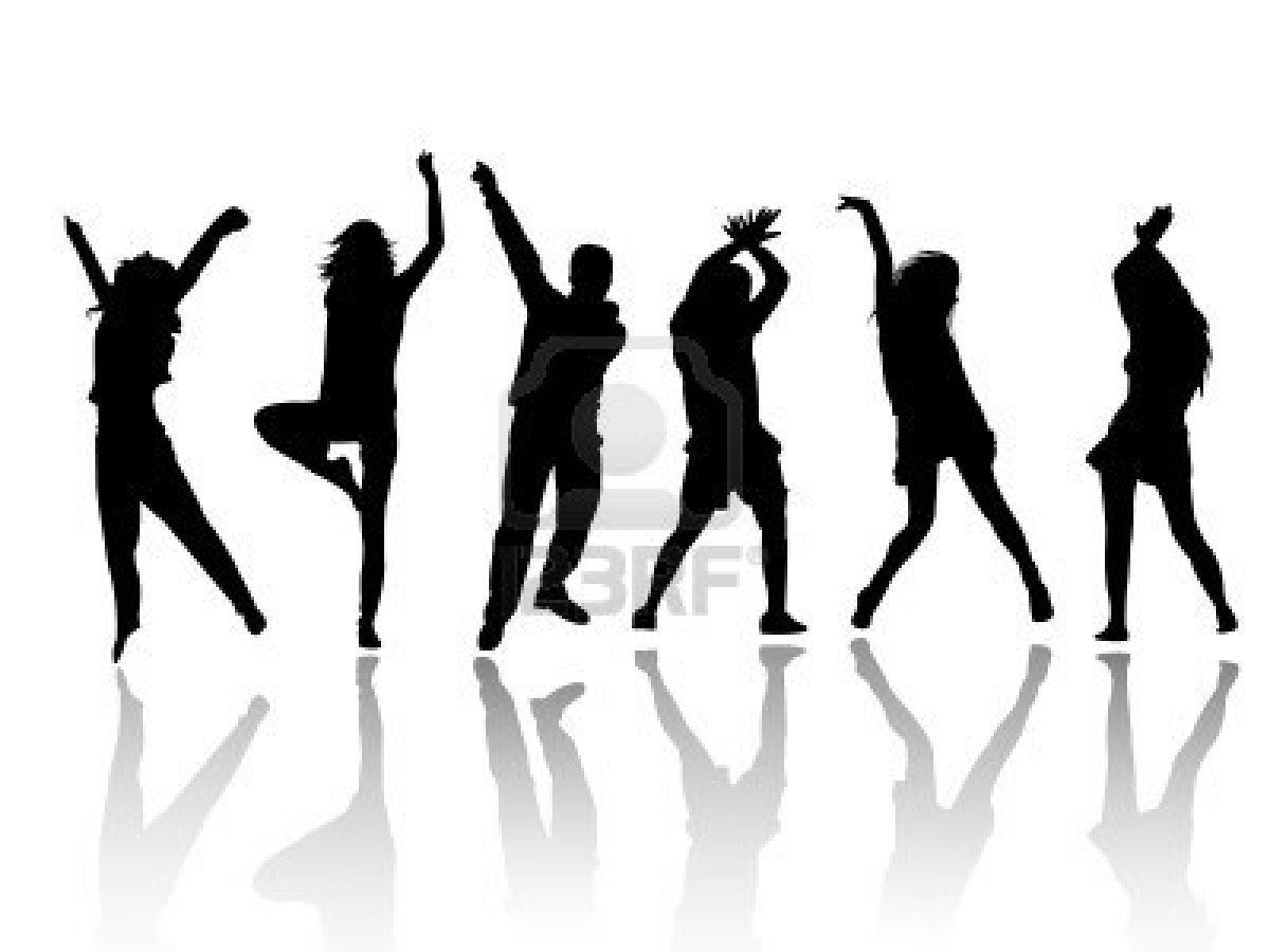 silhouette people party dance Stock Photo - 8059330