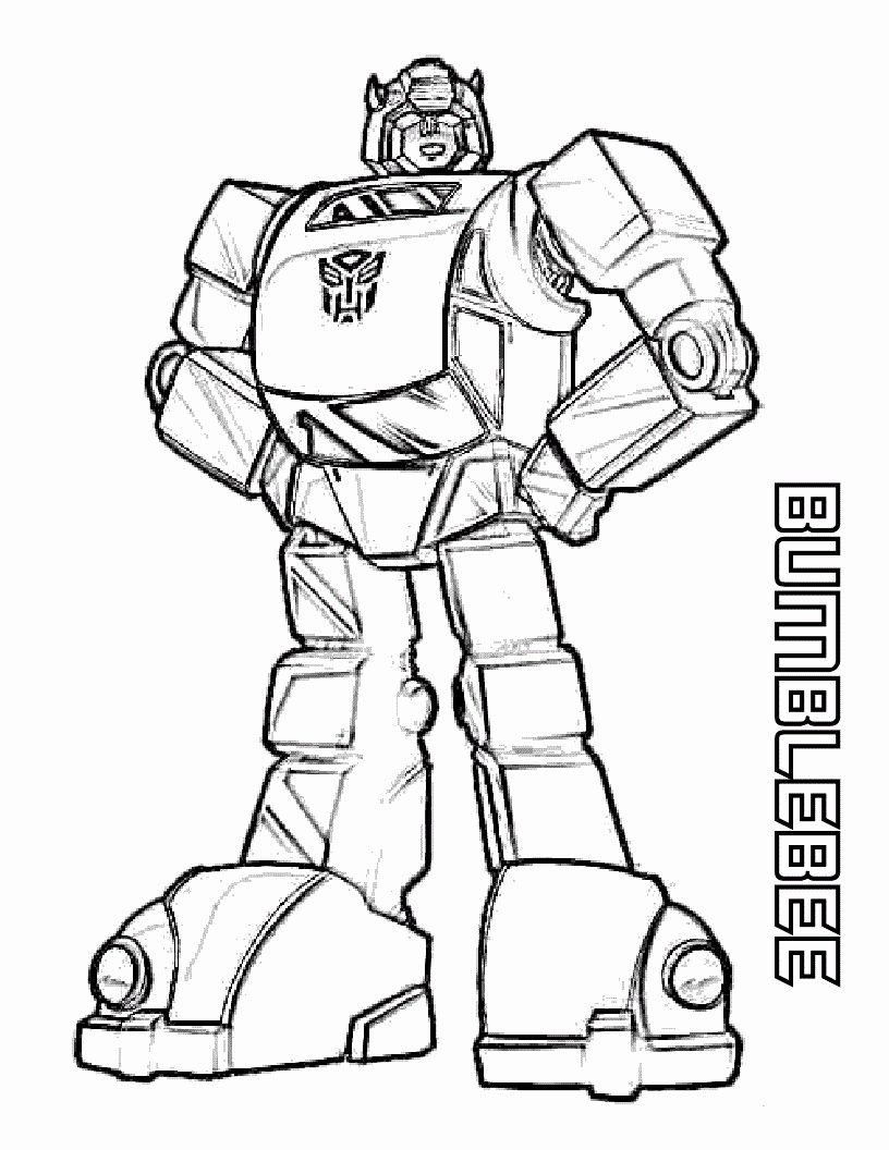 Bumblebee Transformer Coloring Page Awesome Bumblebee Transformers Coloring Pages 816 10 Transformers Coloring Pages Bee Coloring Pages Coloring Pages For Boys