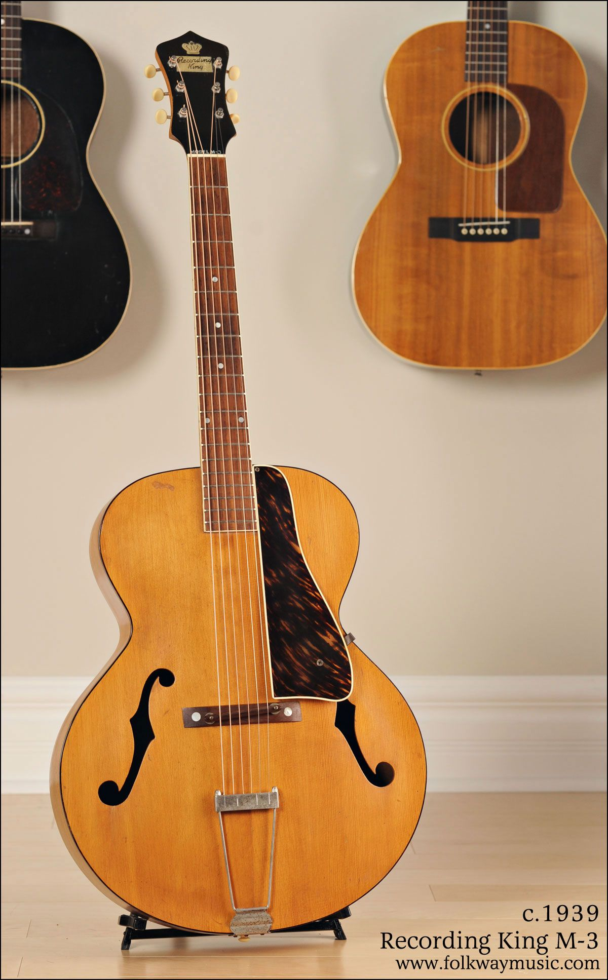 C 1939 Recording King M 3 Archtop Guitar Archtop Guitar Guitar Recording King