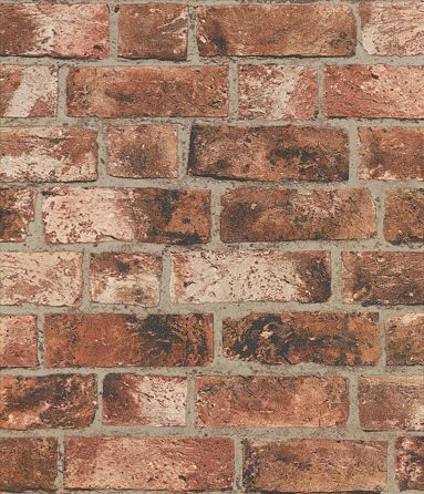 Distinctive Brick By Albany Red Wallpaper Fd31045 In
