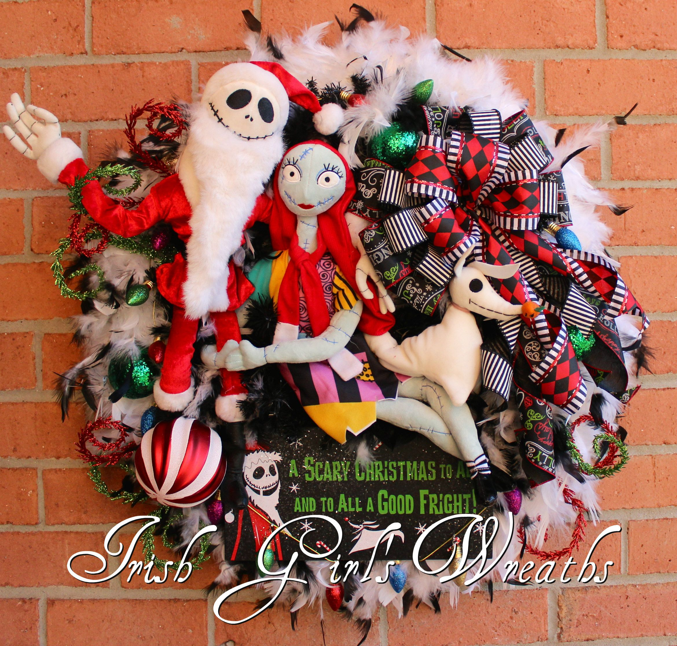 Sandy Claws Wreath Deluxe Nightmare Before Christmas Wreath Jack