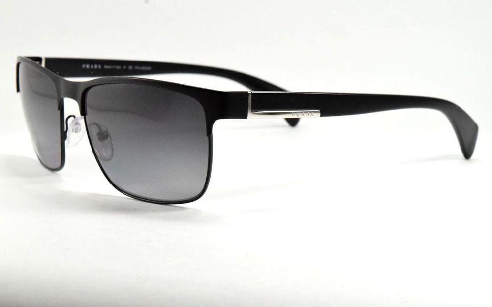 3e5db4cda1 PRADA SPR 51O FAD-5W1 Matte Black-Black   Gray Gradient Polarized Sunglasses