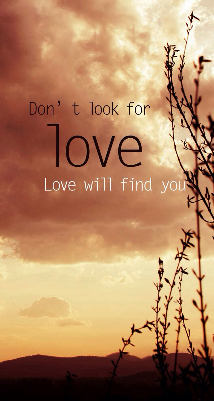 Donu0027t Look For Love, Love Will Find You #lovequote #quote