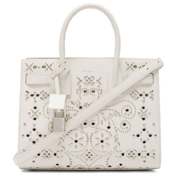 Saint Laurent Baby Bandana Embroidery Sac De Jour Bag In White Acheter Pas Cher Footlocker Finishline Trouver Une Grande Vente Paiement De Visa Pas Cher En Ligne Prix Pas Cher En Ligne WGUst6SLU