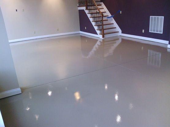 White Epoxy Paint Waterproof Basement Flooring Basement Flooring