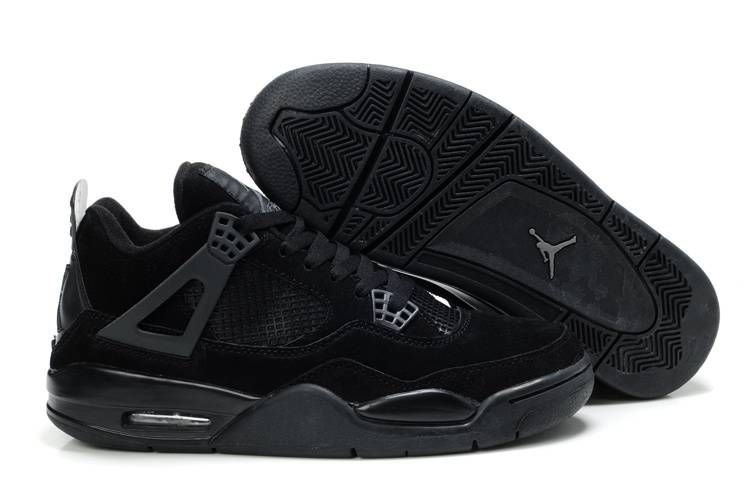 02ac6745e87 Air Jordan 4 (IV) Retro Suede All Black | Sneaker head | Air jordan ...