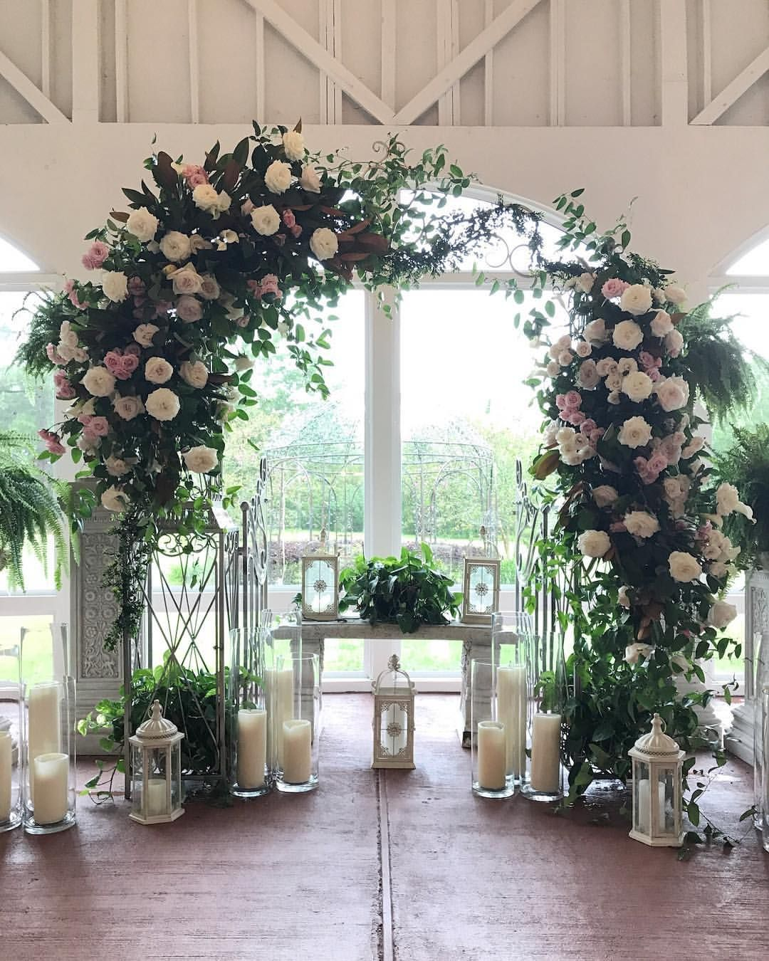 Southern Wedding Decoration Ideas: Southern Garden Style @cgtplantation #floralarch