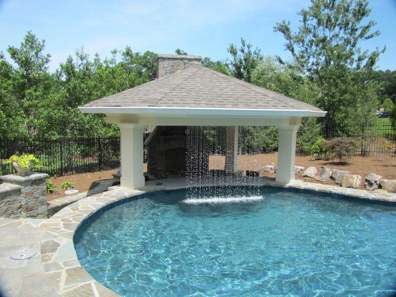 Outdoor pavilion google search garden pinterest for Custom pool house