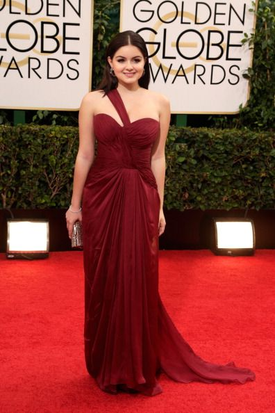Ariel Winter in Mikael D at the 71st Annual Golden Globe Awards.  Styled by Nicole Chavez.