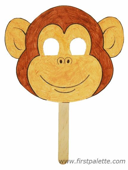 photo relating to Monkey Mask Printable identified as 22 Enjoyment Monkey Crafts, Get-togethers and Printables for Youngsters