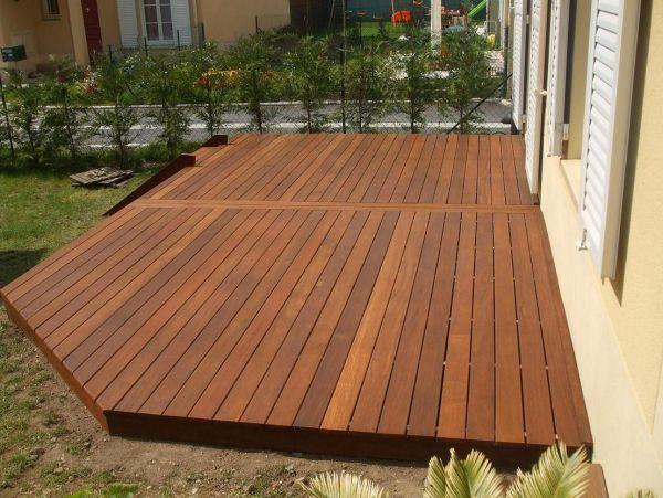 terrasse en bois - Recherche Google backyard Pinterest - faire une terrasse pas cher