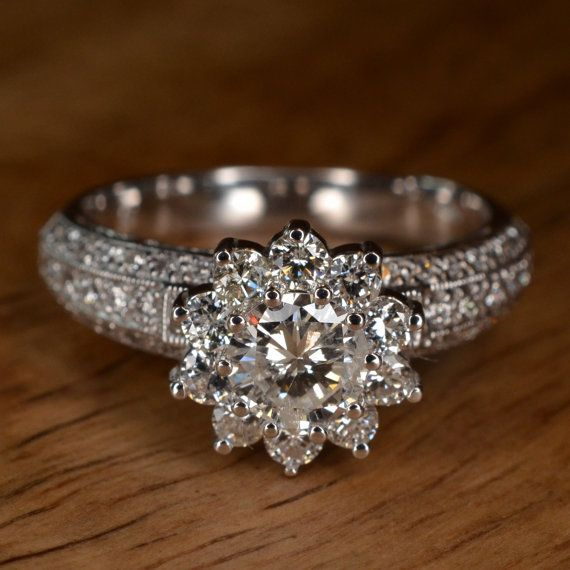 best 25 flower engagement rings ideas on pinterest. Black Bedroom Furniture Sets. Home Design Ideas