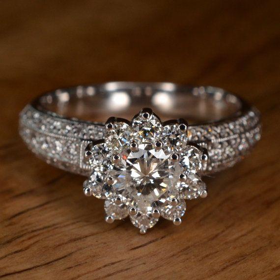 best 25 flower engagement rings ideas on pinterest. Black Bedroom Furniture Sets. Home Design Ideas