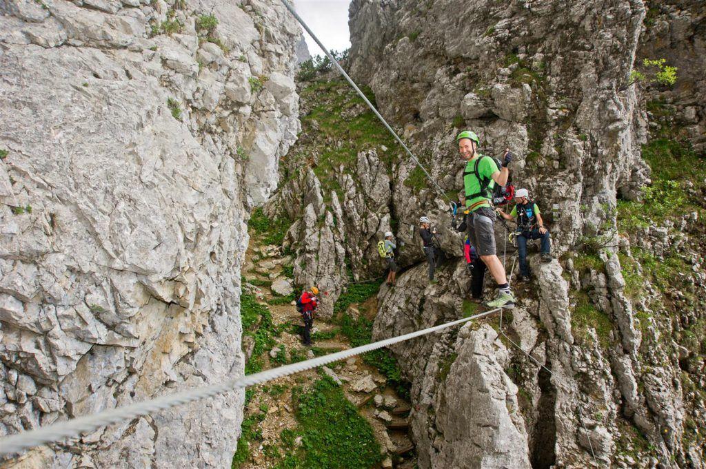 Postalm Klettersteig F Variante : Postalm klettersteig d zweitbegehung alpine abenteuer