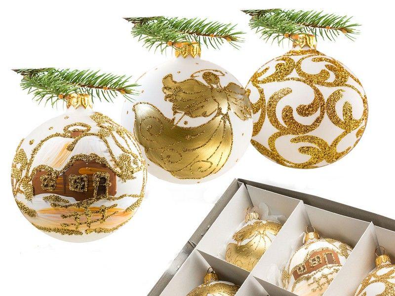 Bombki Choinkowe Recznie Malowane Szklane 8 Cm 4948120113 Oficjalne Archiwum Allegro Place Card Holders Table Decorations Place Cards