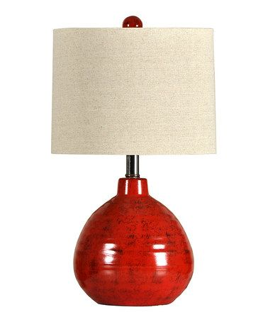 Tall Red Table Lamps, Tall Red Lamp