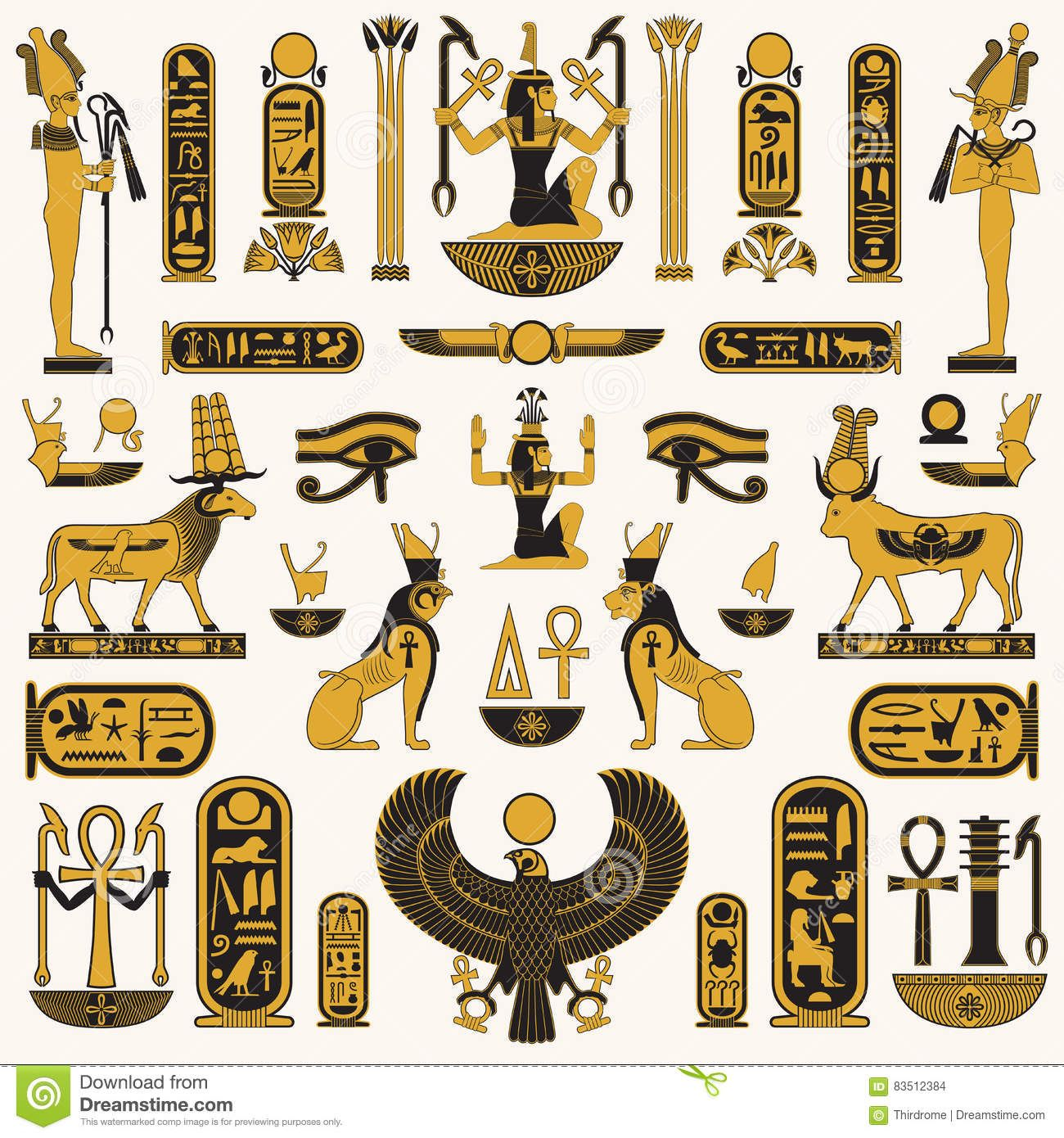 Egyptian symbols of royalty ancient egyptian symbols and egyptian symbols of royalty ancient egyptian symbols and decorations stock illustration queens of the nile pinterest egyptian symbols biocorpaavc Images