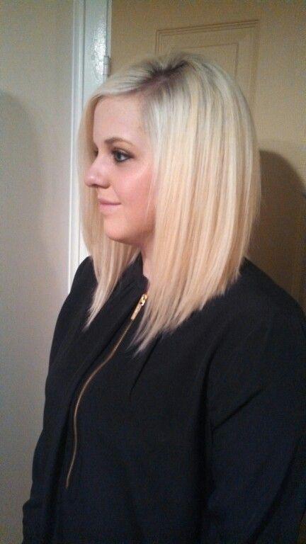 long angled bob haircut similar