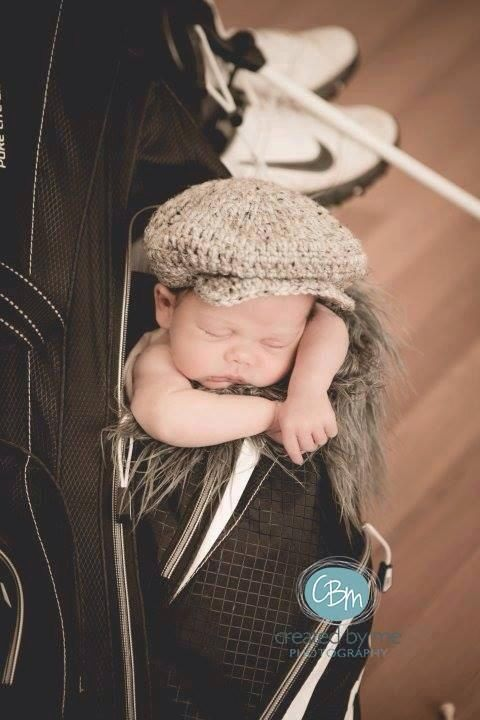Crochet Baby Hat Golf Hat Drivers Cap Irish by TrendyKidsByJen ... 2d9b8a0e023