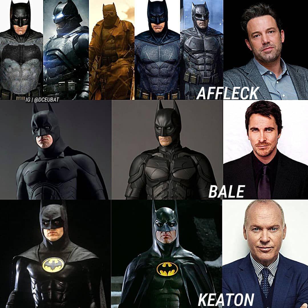 Batman On Instagram Follow Dceubat Who Has The Best Suits Benaffleck Christianbale Michaelkeaton Cool Suits Batman Christian Bale