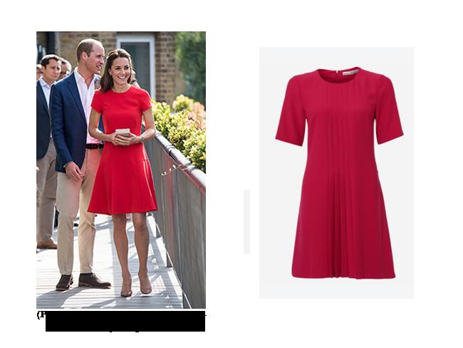 Rotes Kleid mit Kate Middleton auch in Plus Size Größe für kurvige ...