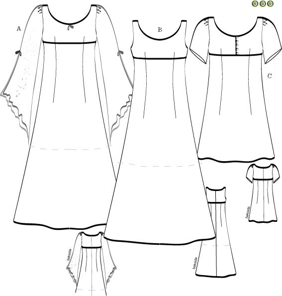 Svenska Mönster Klänningar tunikor | Mönster klänning