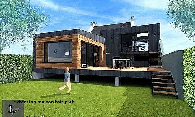 Kit Extension Bois Toit Plat Genial Luxe Elegant Le Meilleur De In 2020 House Architecture Design Building A Container Home Small House Design