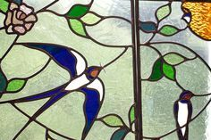 stained glass swallow