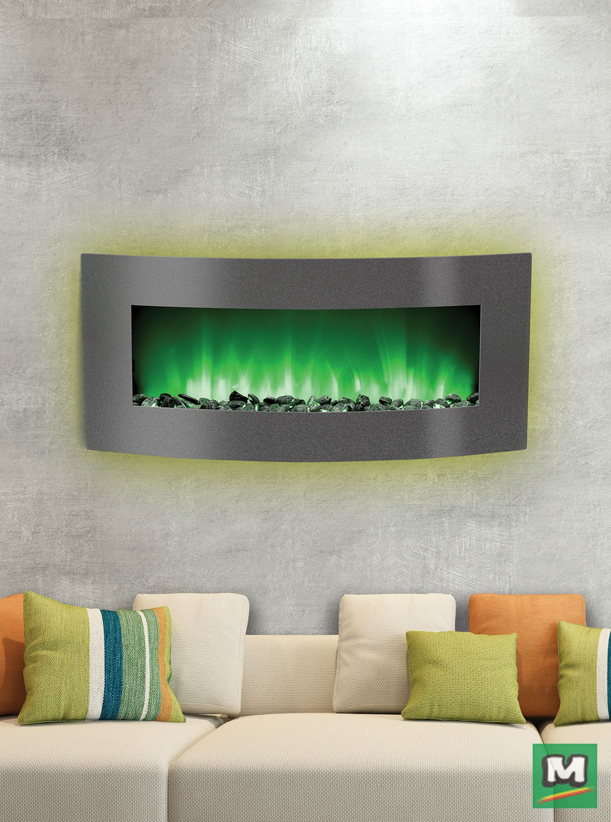 This 34 Belmont Curved Linear Fireplace Will Definitely Warm You