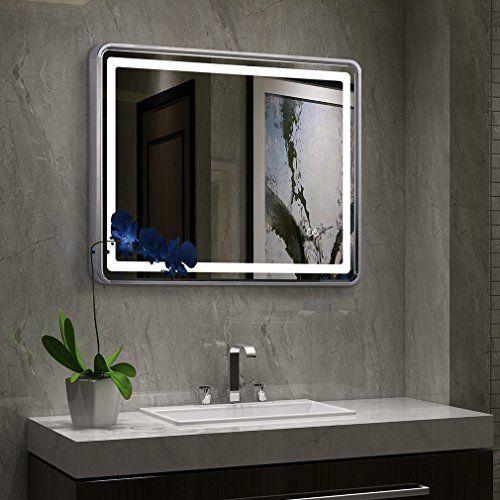 Tonffi 20W 80 x 60 CM Illuminé LED Salle De Bains Miroir Vanité - maison classe energie d
