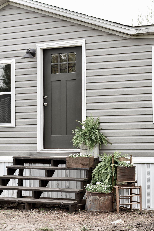 Mobile Home Spring Porch Exterior Remodel Mobile Home Porch Home Exterior Makeover