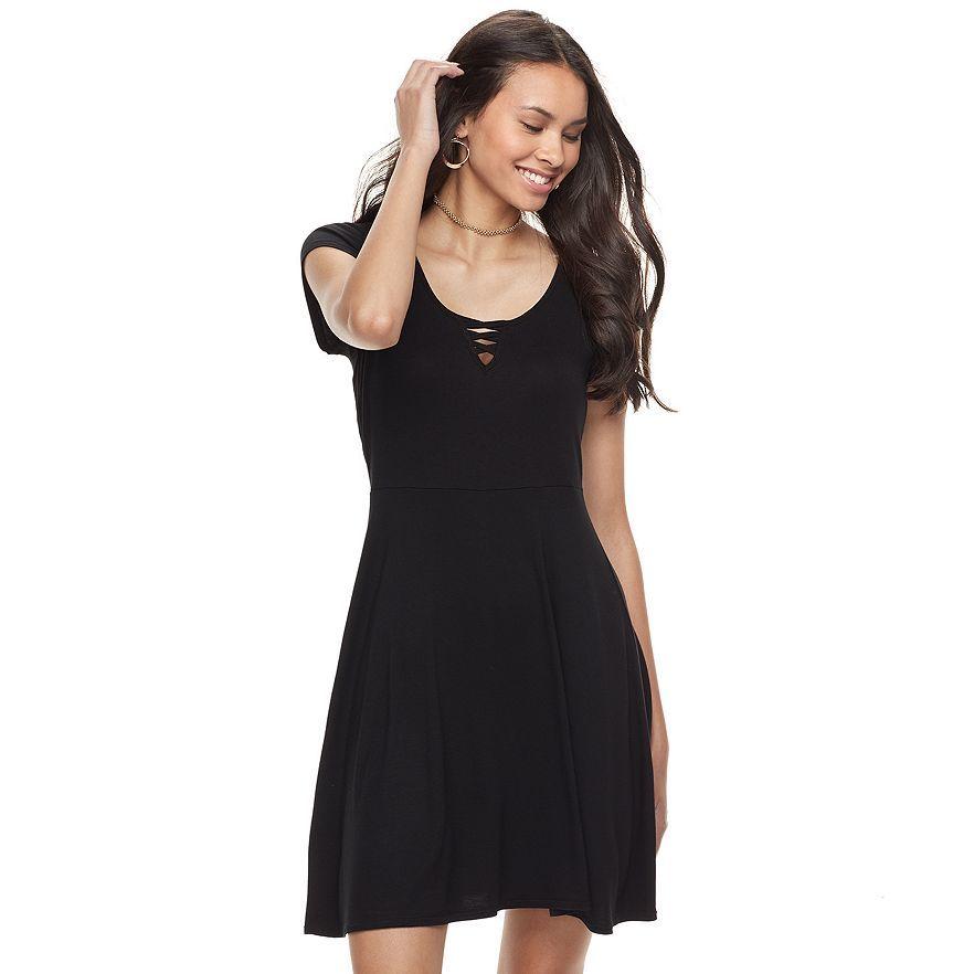 kohls junior dresses black