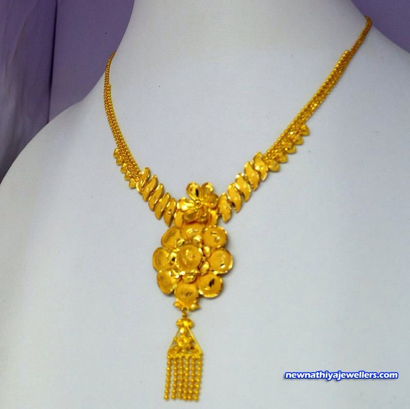Singapore Necklace 916 Pure Gold Wedding Jewellery Necklace Unique Jewelry Necklace Boho Jewellery Necklaces