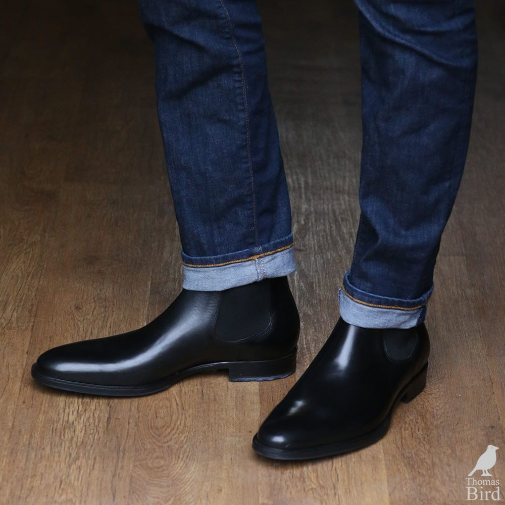 0ee133dca394 Black chelsea boots with blue jeans