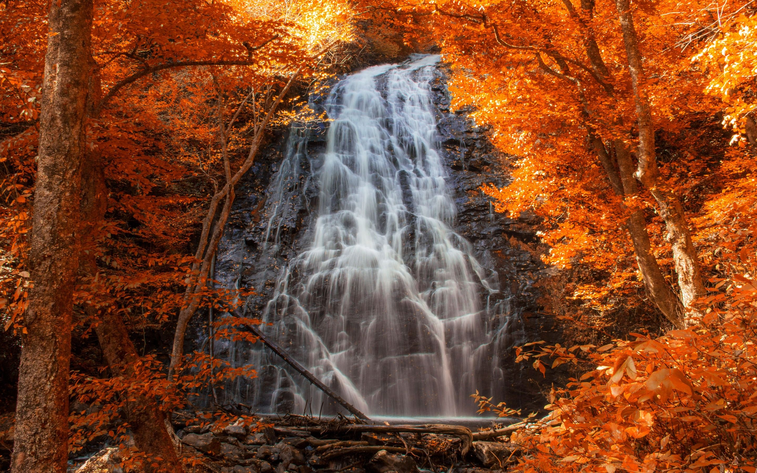 Appalachian Mountains Autumn landscape, Waterfall