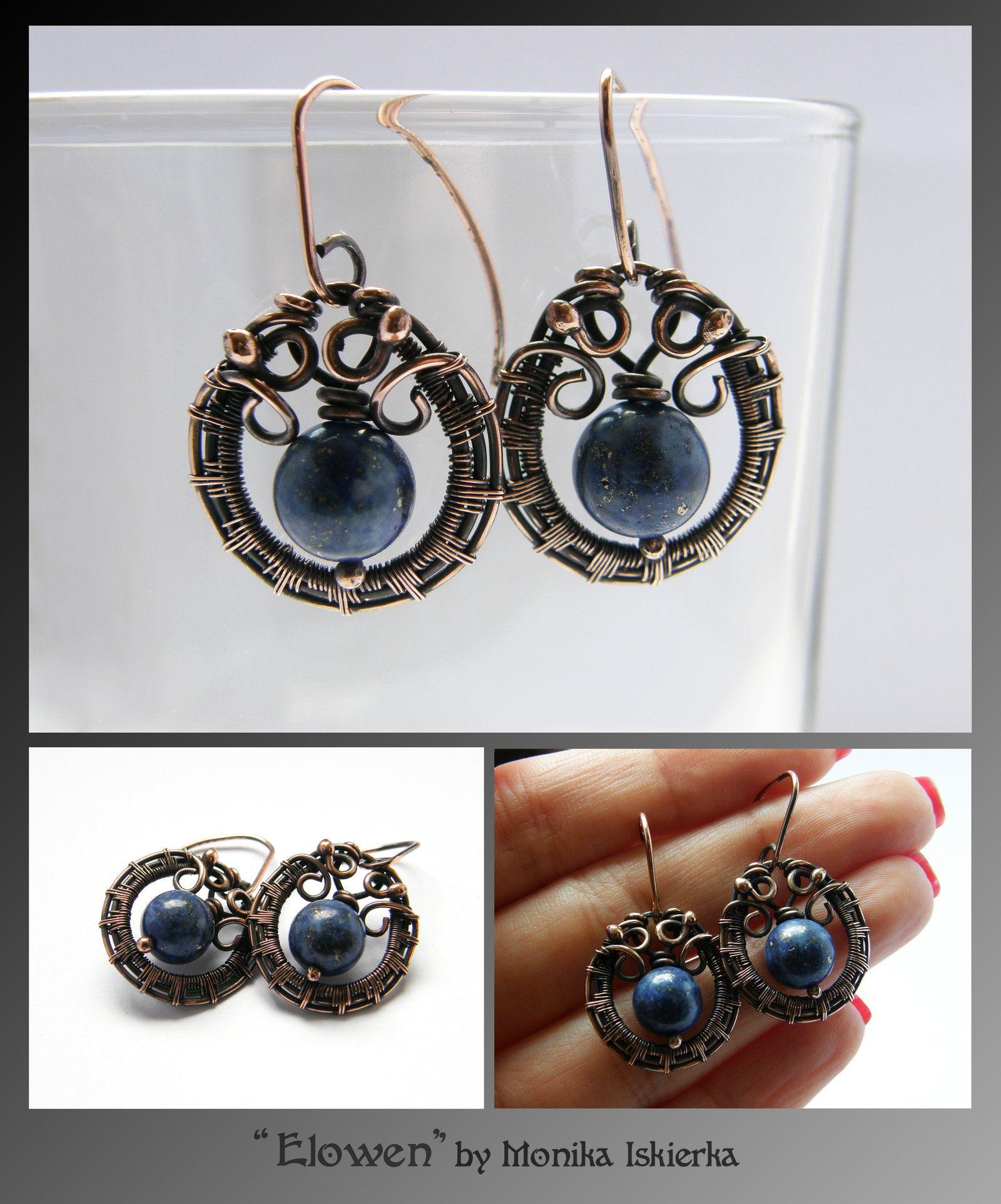 Elowen- wire wrapped earrings by mea00.deviantart.com on @deviantART ...