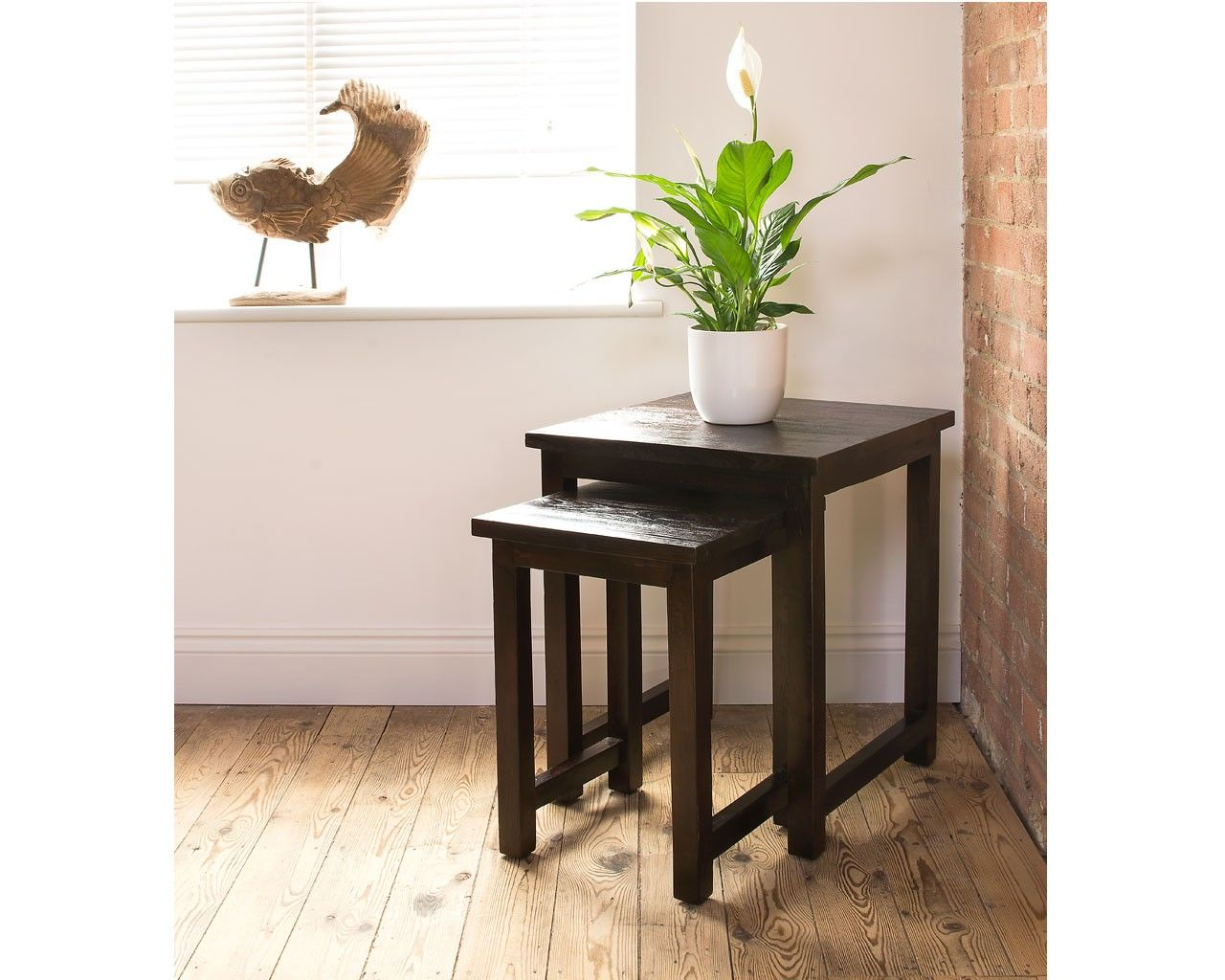 Teak Living Room Furniture Henry Dark Teak Nest Teak Furniture Is Perfect For The Living