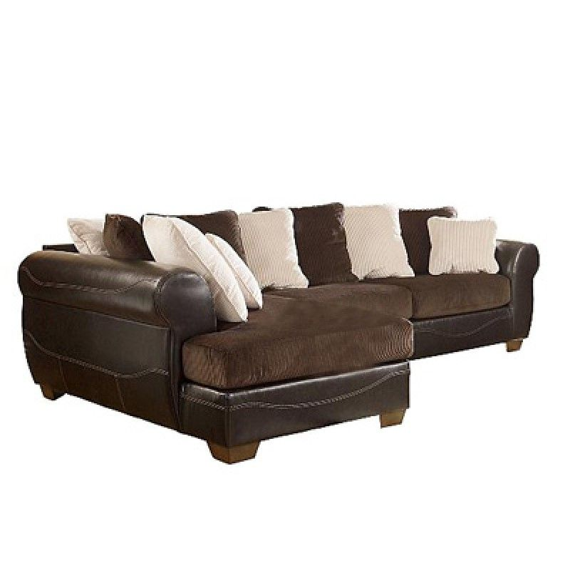 Victory Chocolate Sectional - Urban Home Family Room