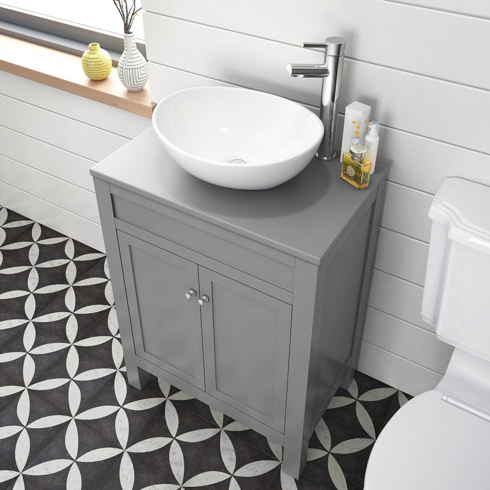 600mm Melbourne Grey Countertop Unit Camila Basin Floor