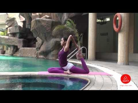 rajakapotasana one legged king pigeon yoga pose with