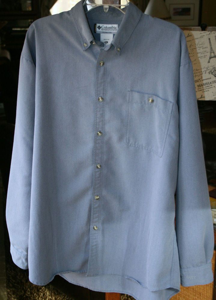 533b535314e Columbia Titanium GRT long-sleeve button-down Shirt Men's XL viscose  polyester #Columbia #ButtonFront