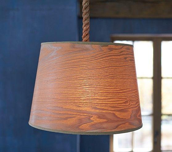 Wood veneer drum pendant pottery barn kids lighting wood veneer drum pendant pottery barn kids mozeypictures Images
