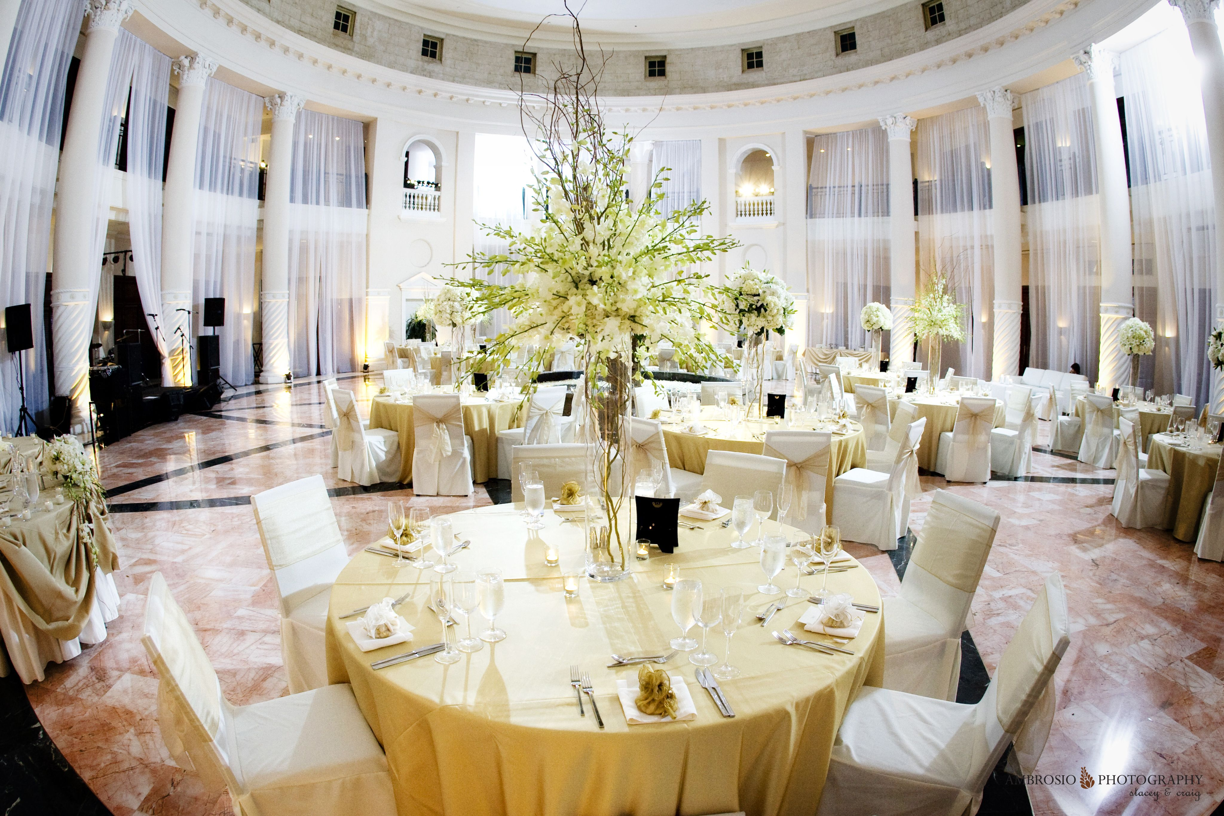 Westin Colonnade Coral Gables FL Flowersbygerardo White Wedding