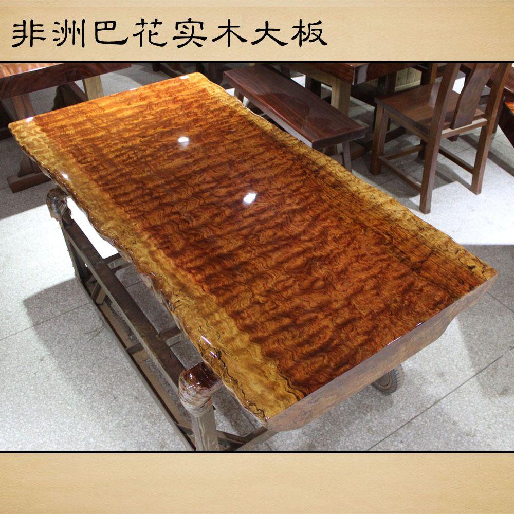 African Rosewood Wood Slab Tables Pakistan Flower Painting Original Wood  Case / Bar Tea Table /