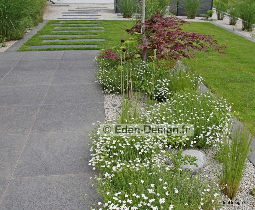 Eden Design Paysagiste-Réalise votre Plan de jardin, piscine - allee d entree maison